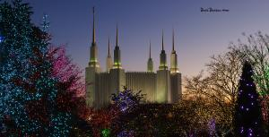 Mormon Temple at Christmas - December 2016
